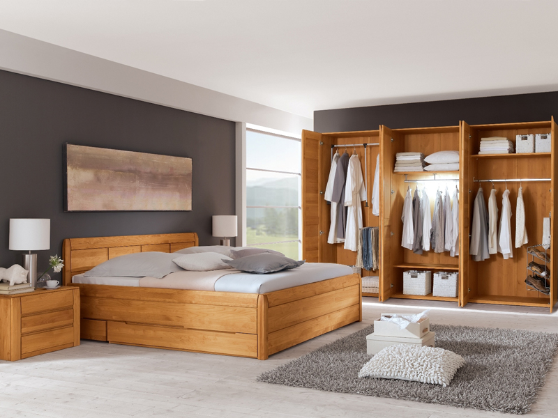 schlafzimmer gamma eco von ims living erle massiv g nstiger kaufen bei. Black Bedroom Furniture Sets. Home Design Ideas