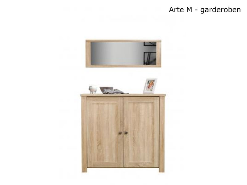 arte m programm garderoben garderobe 2 teil schuhschrank f 24 paar schuhe ebay. Black Bedroom Furniture Sets. Home Design Ideas