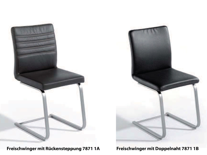 k w silaxx freischwinger freestyle kw m bel hochwertiger stuhl in leder longlife ebay. Black Bedroom Furniture Sets. Home Design Ideas