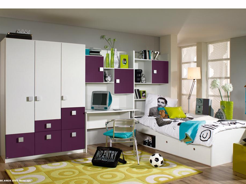 jugendzimmer skate rauch kombination 075t a9625 alpinweiss. Black Bedroom Furniture Sets. Home Design Ideas