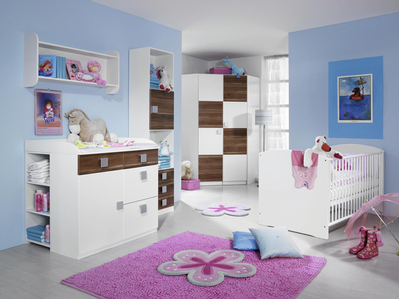 rauch skate babyzimmer 4 teilig bett eckkleiderschrank regal wickelkommode ebay. Black Bedroom Furniture Sets. Home Design Ideas