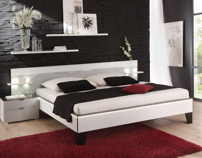 staud sonate bett inkl kopfteil 1 normalh he ehebett doppelbett jugendbett neu ebay. Black Bedroom Furniture Sets. Home Design Ideas