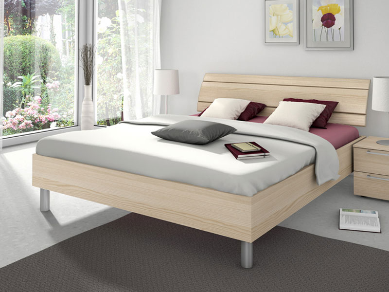 nolte sonyo bett doppelbett1 bettrahmen eckig mit holz r ckenlehne farbe w hlbar ebay. Black Bedroom Furniture Sets. Home Design Ideas