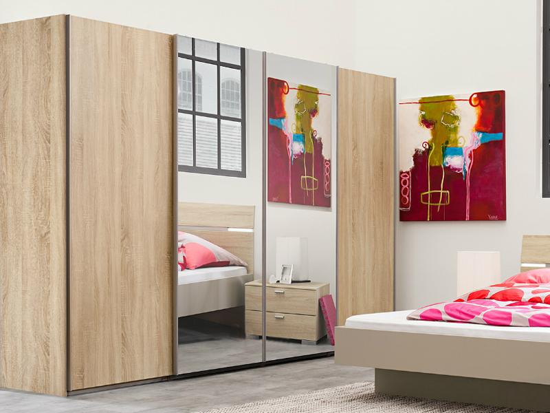 arte m synkro panoramaschrank schwebet renschrank absetzung glas spiegel eiche ebay. Black Bedroom Furniture Sets. Home Design Ideas