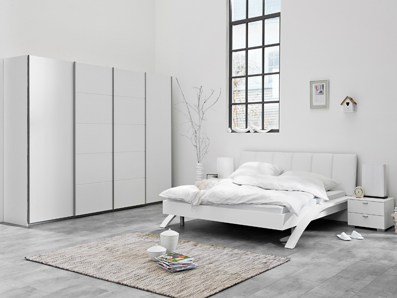 arte m synkro schlafzimmer 4 teilig kleiderschrank bett swing und nako gallery ebay. Black Bedroom Furniture Sets. Home Design Ideas