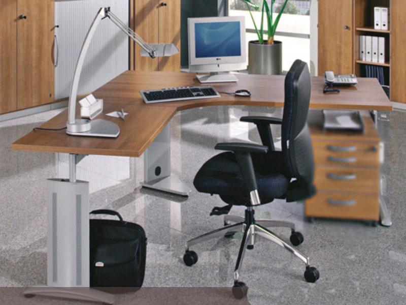 Röhr-Bush techno Bürosystem Schreibtisch Ausführung Kirschbaum noce ...