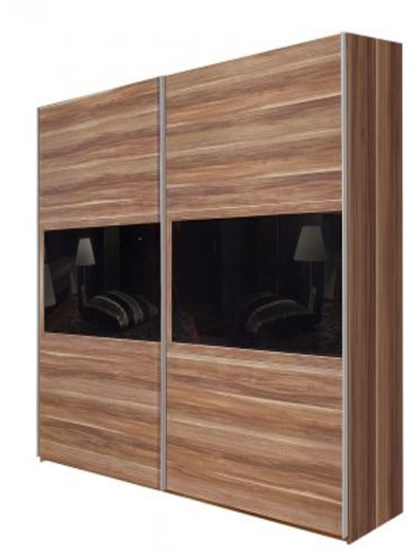 schwebet renschrank trio arte m nussbaum kleiderschrank ebay. Black Bedroom Furniture Sets. Home Design Ideas