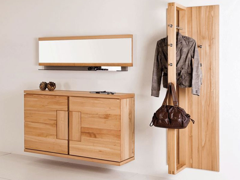 voglauer v vita garderobe typ lg04 mit spiegel und glasablage massivholz w hlbar ebay. Black Bedroom Furniture Sets. Home Design Ideas
