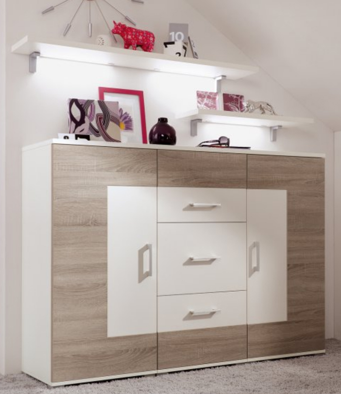 r hr bush vegas plus jugendzimmer sideboard ausf hrung w hlbar neu ebay. Black Bedroom Furniture Sets. Home Design Ideas