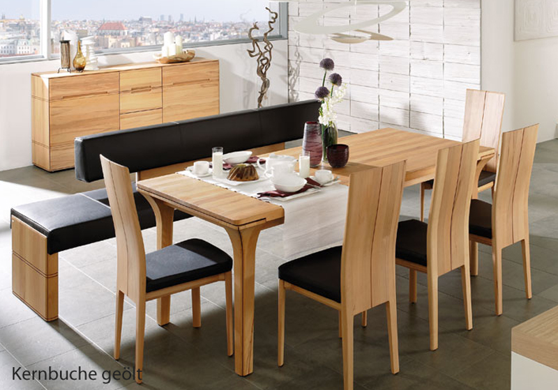 voglauer v soft essgruppe 7 teilig esszimmer tisch st hle sitzbank massiv neu ebay. Black Bedroom Furniture Sets. Home Design Ideas